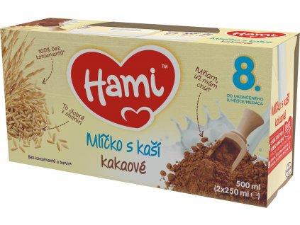 hami mlicko s kasi kakaove 2x 250 ml 8590340109126