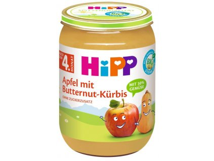 hipp bio jablko s maslovou dyni 190 g 4062300352223