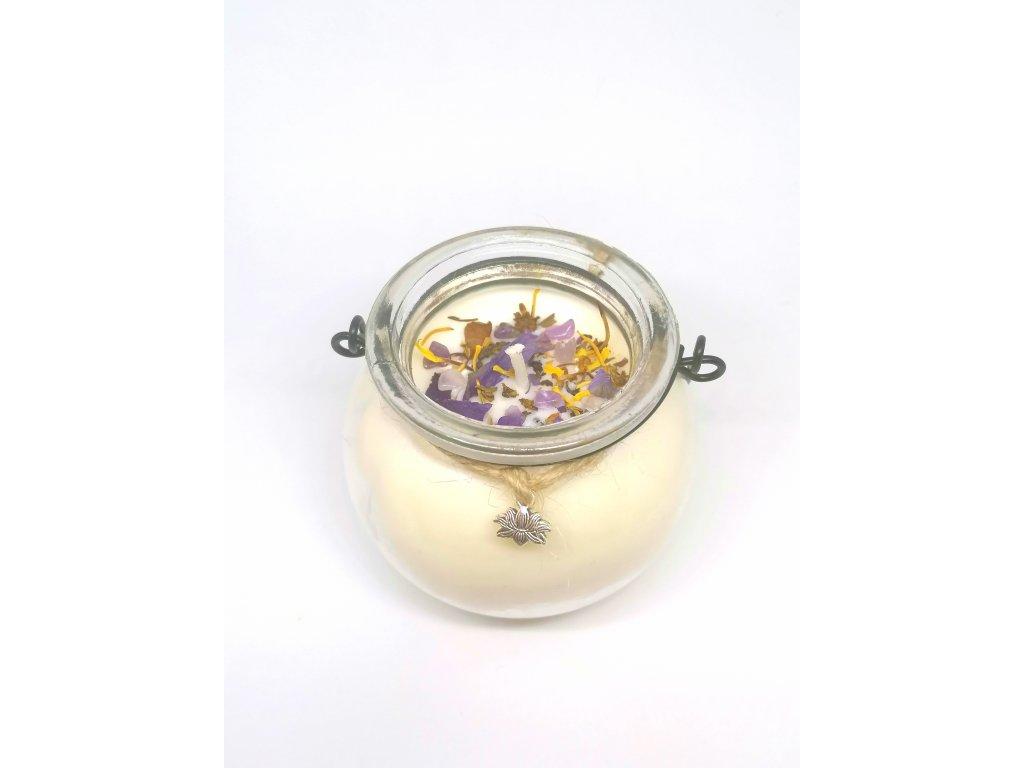 Lotos - magická bylinková sviečka