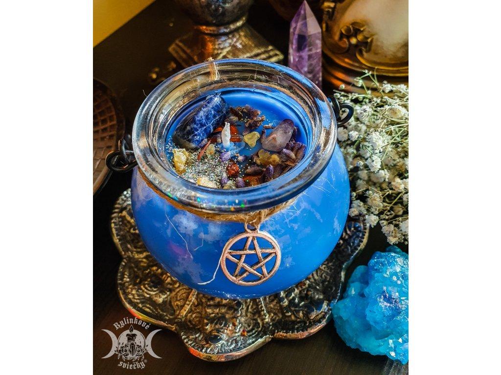Meditácia - magická bylinková sviečka