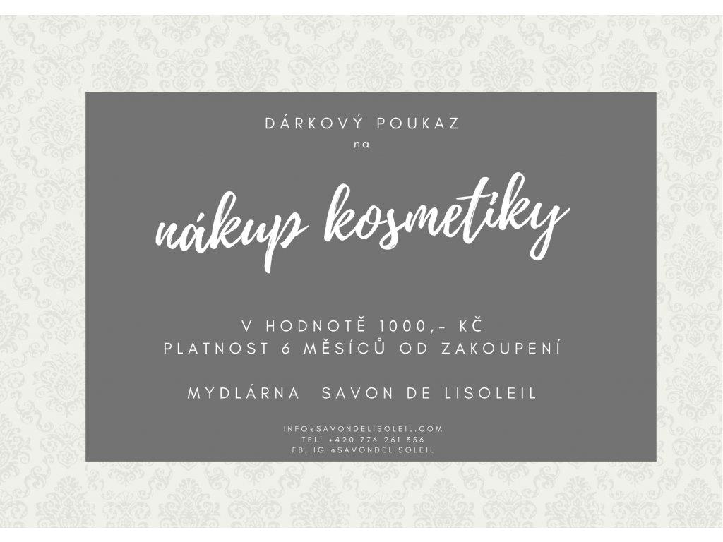 Dárkový poukaz na nákup kosmetiky