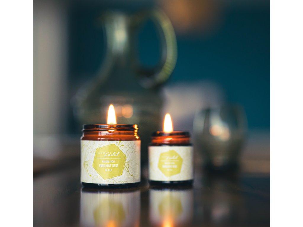 Masážní svíčka Vanilkové nebe