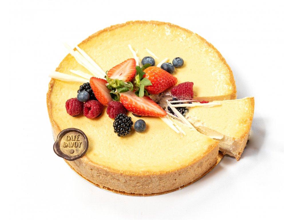 Narozeninový dort cheesecake - Café Savoy