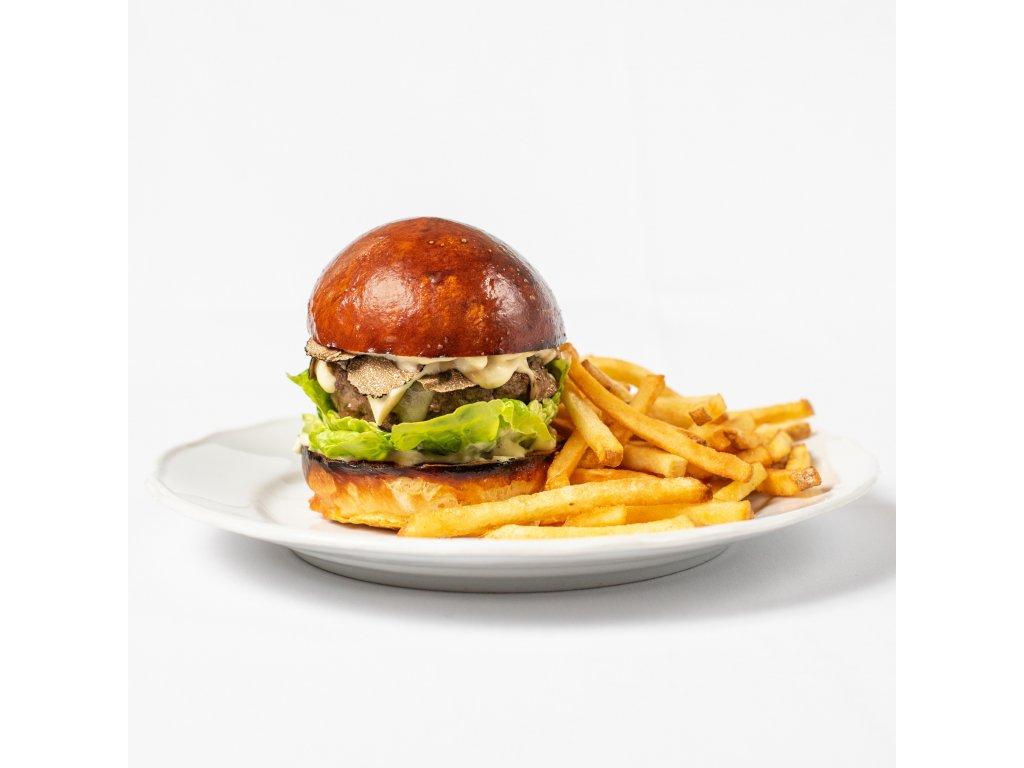 Hamburger s lanýžem - Café Savoy