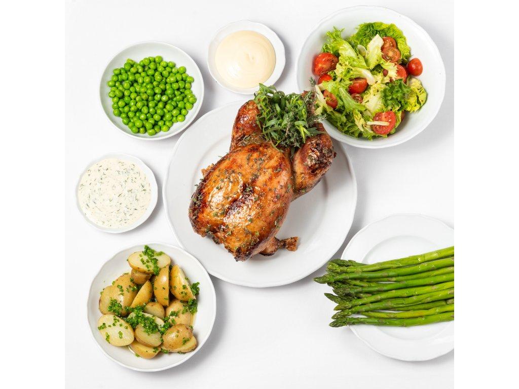 Pečené kuře - Café Savoy