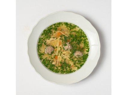 Slepičí polévka - Café Savoy