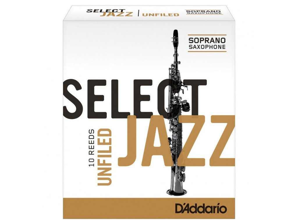 D'Addario Select Jazz Unfiled 2H plátek na soprán saxofon