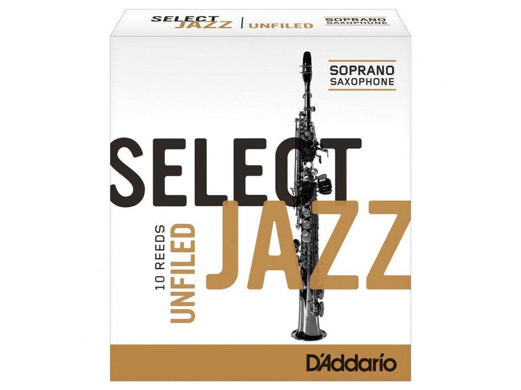 D'Addario Select Jazz Unfiled 3H plátek na soprán saxofon