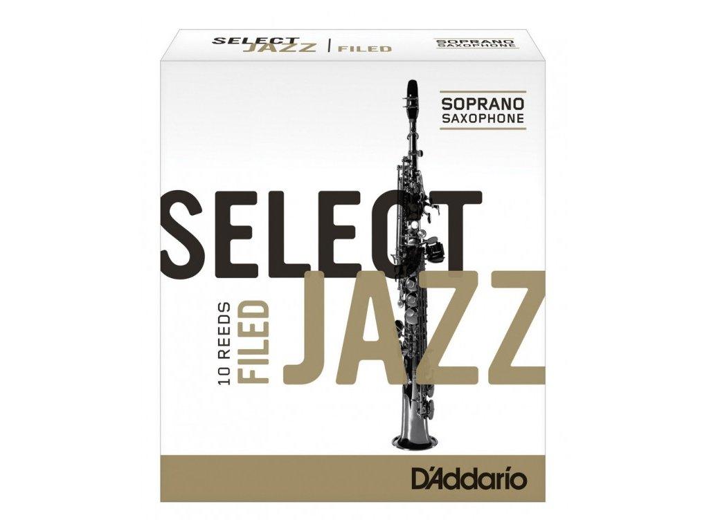 D'Addario Select Jazz Filed 3S plátek na soprán saxofon