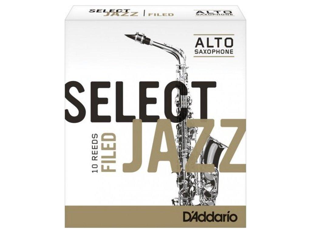 D'Addario Select Jazz Filed 2M plátek na alt saxofon