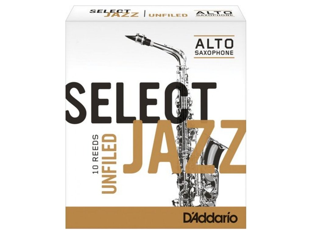 D'Addario Select Jazz Unfiled alt sax 2H