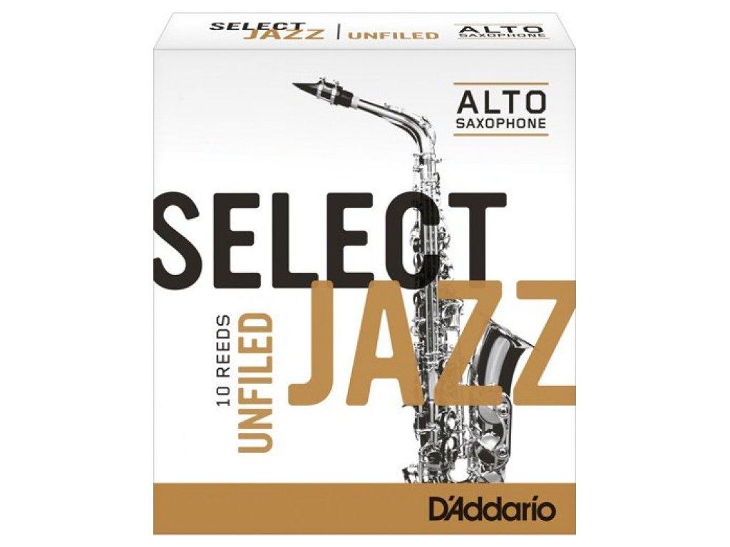 D'Addario Select Jazz Unfiled 2M plátek na alt saxofon