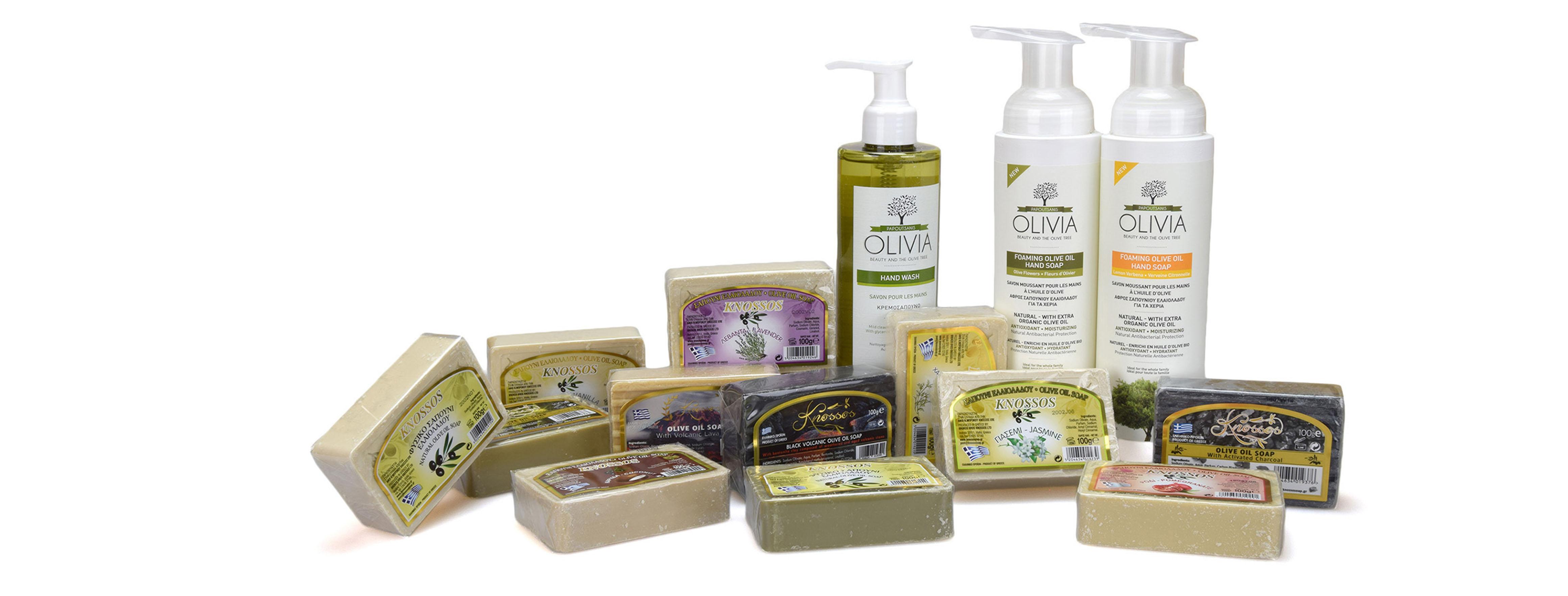 Přírodní řecká olivová mýdla