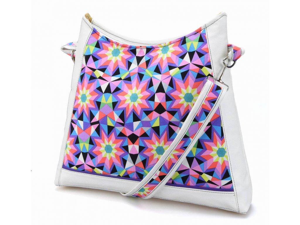 Bílá crossbody kabelka - Kaleidoskopová