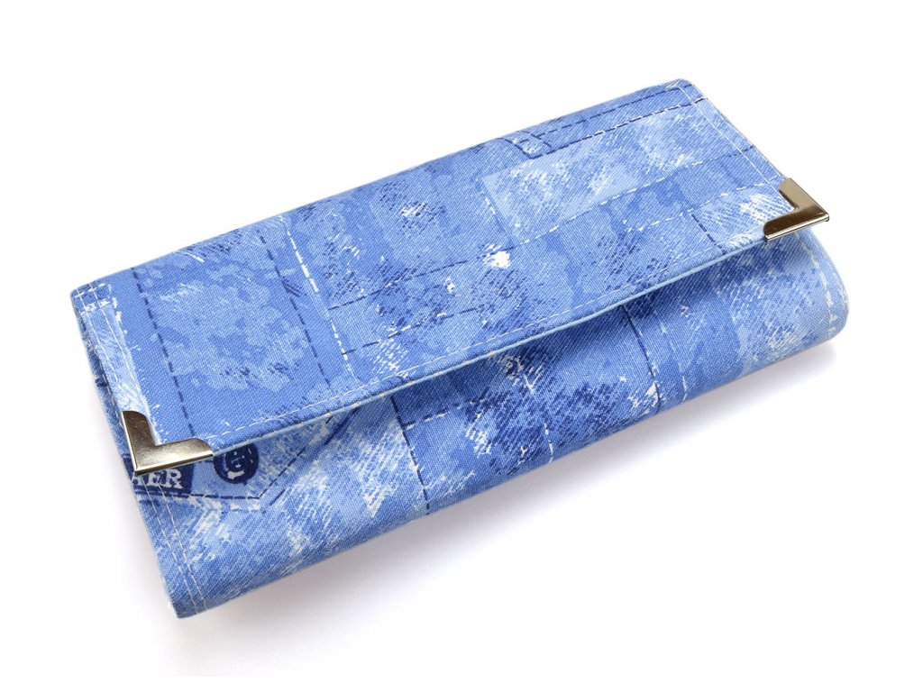 Peněženka s džínovým vzorem