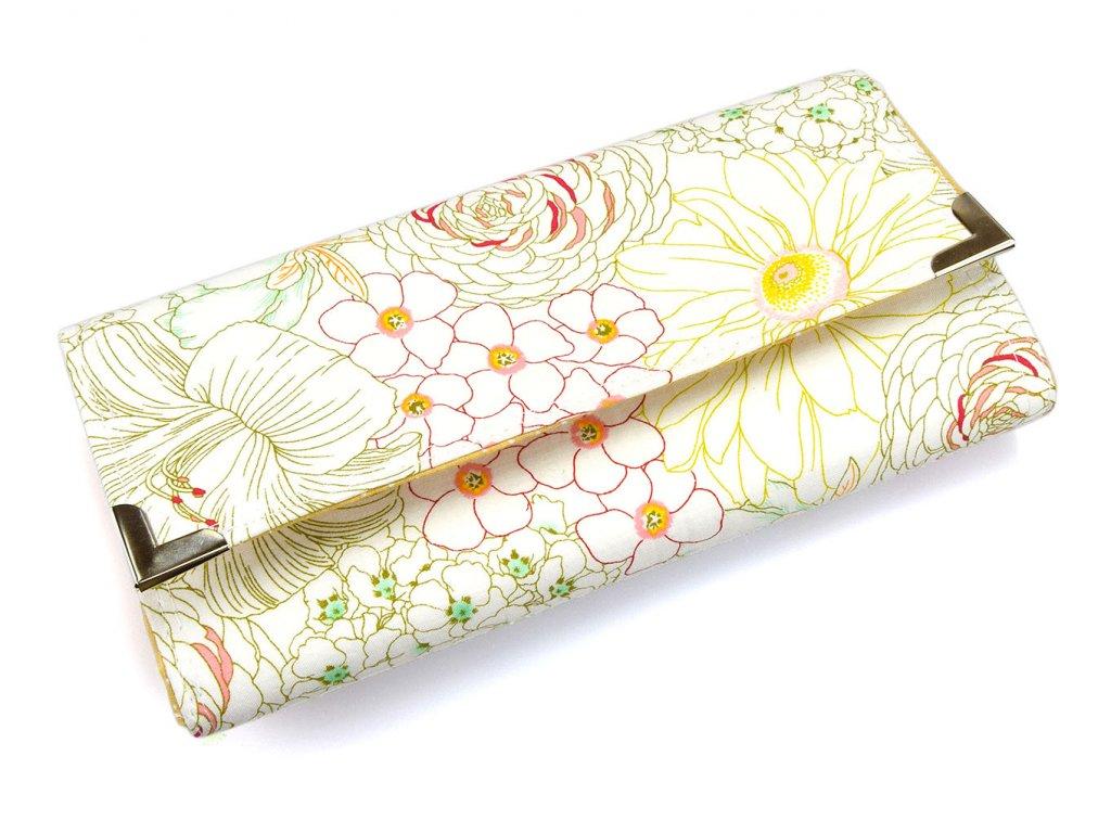 peněženka kreslené květy
