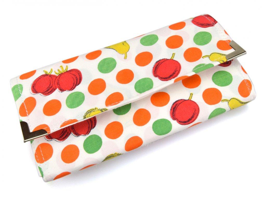 retro ovocná peněženka