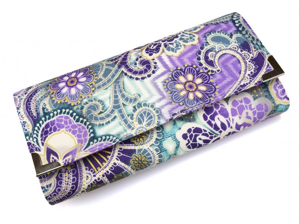 peněženka - abstraktní fialová