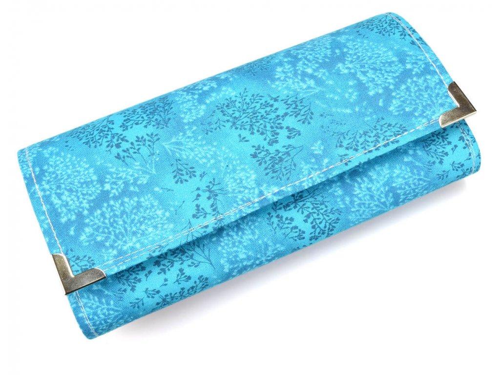peněženka - azurové keře