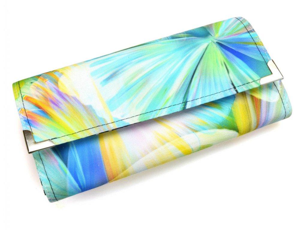 peněženka - modrá abstrakce