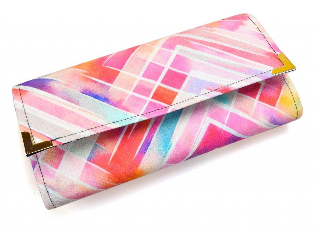 peněženka - barevná abstrakce