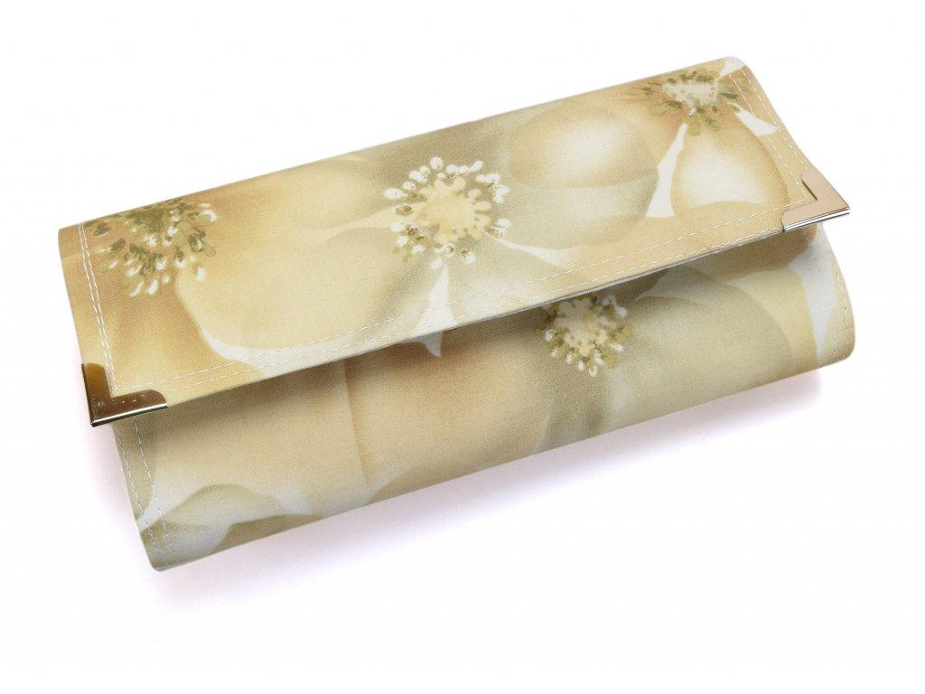 peněženka - béžové květy