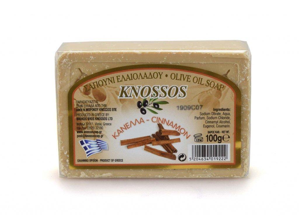 Řecké olivové mýdlo - skořice 100g