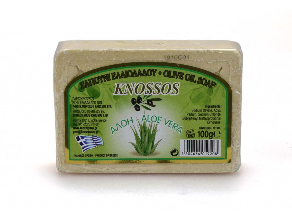 Řecké olivové mýdlo - aloe vera 100g