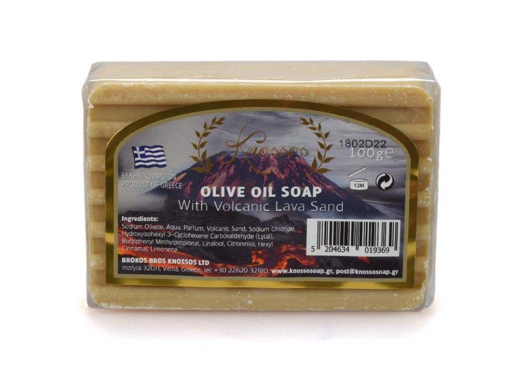 Olivové mýdlo s vulkanickým pískem 100g