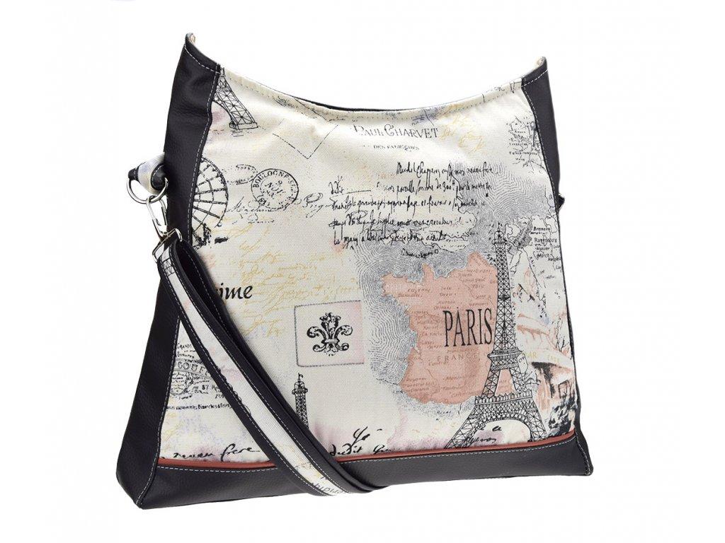 Velká kabelka s motivem Paříže