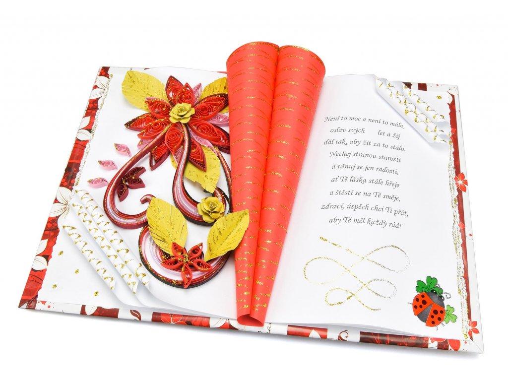 Červené květy k narozeninám