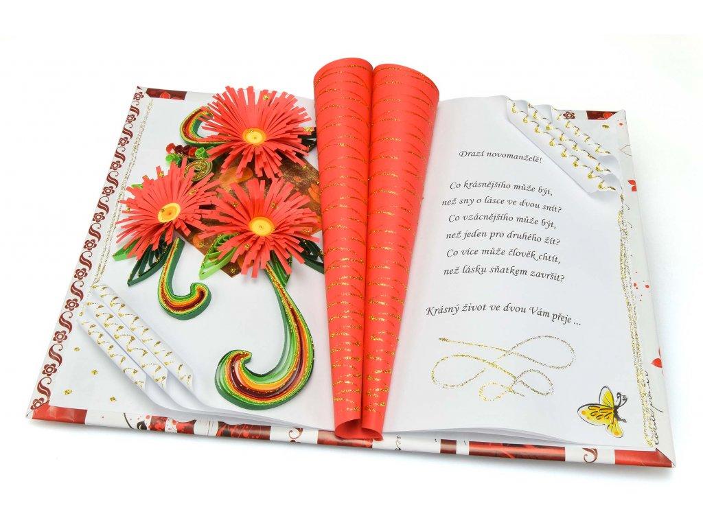 Gratulační kniha pro novomanžele