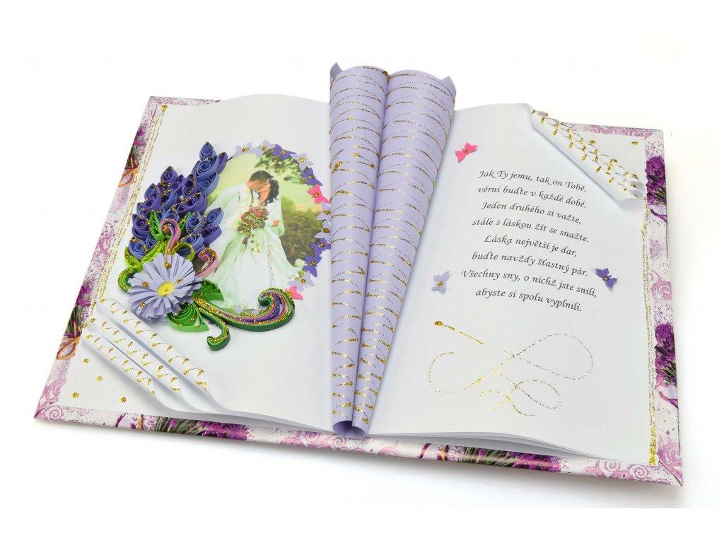 Levandulová kniha ke svatbě či výročí