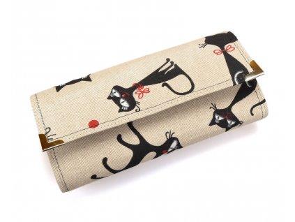 peněženka - černé kočky