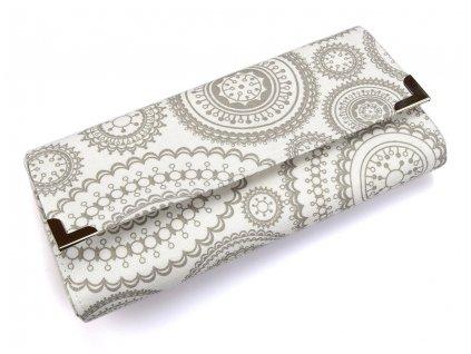 peněženka bílo-šedé mandaly