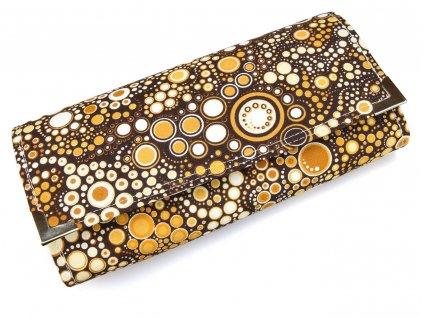 peněženka  - hnědé puntíky