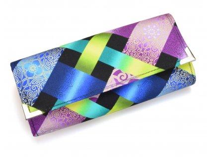 modro fialová peněženka