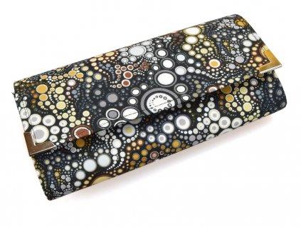 peněženka - šedé puntíky