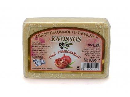 Řecké olivové mýdlo - granátové jablko 100g
