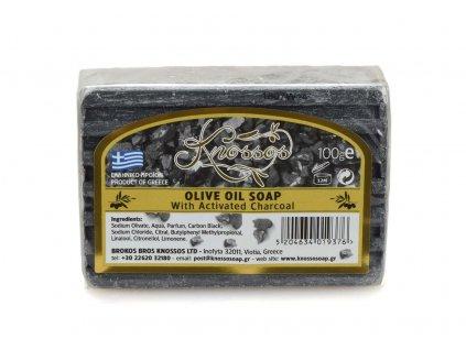 Olivové mýdlo s aktivním uhlím 100g