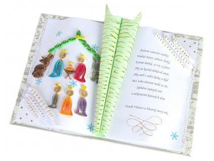 Vánoční gratulační kniha