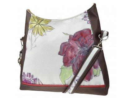 Crossbody kabelka - Barevné květy