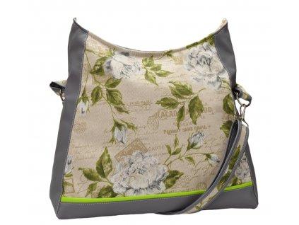 Crossbody kabelka - Bílé růže