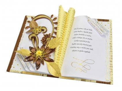 Zlaté květy ke svatbě nebo výročí