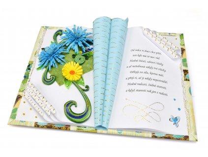 Modré květy k narozeninám
