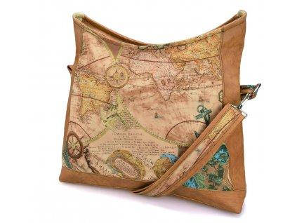 Hnědá crossbody kabelka - Cestovatelská