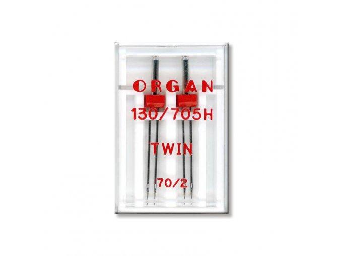 strojove jehly organ twin 130705 h 70 20 2ksplastova krabicka
