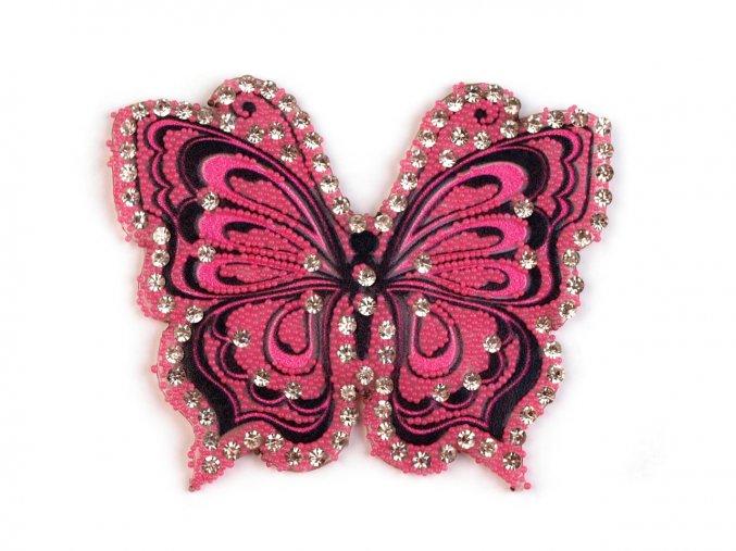 motyl ružový kaminky