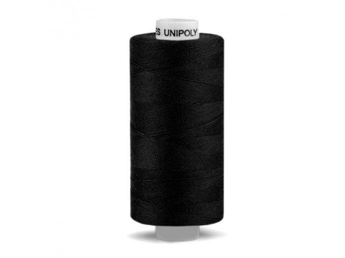 Polyesterová nit UNIPOLY 1000 m, 120 14/2, černá