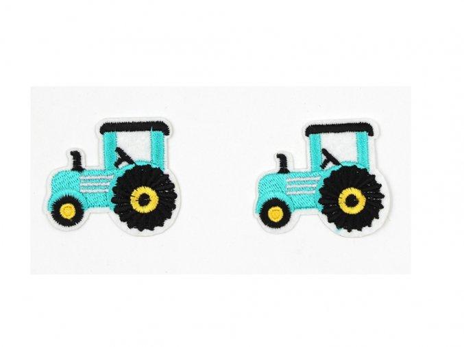 traktor modrý